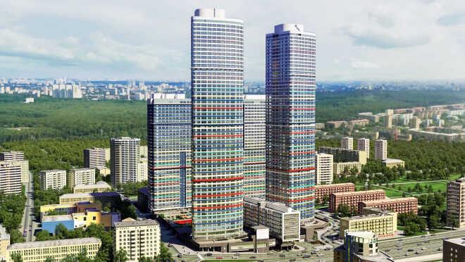 ЖК «Триколор» на проспекте ВДНХ Просторные квартиры с панорамными
